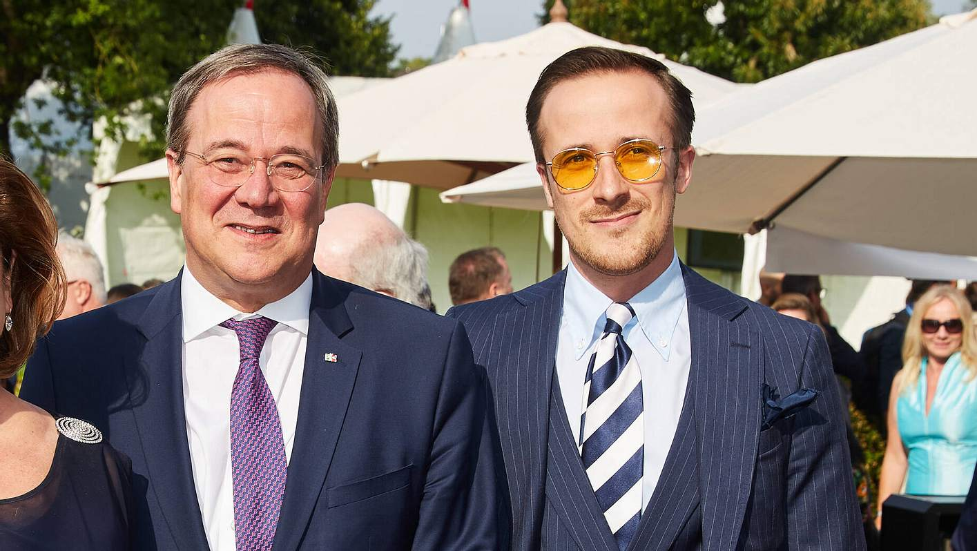 Armin Laschet mit Sohn Johannes Laschet
