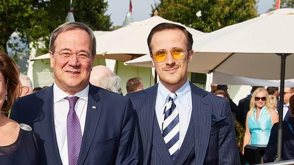 Armin Laschet mit Sohn Johannes Laschet - Foto: Imago