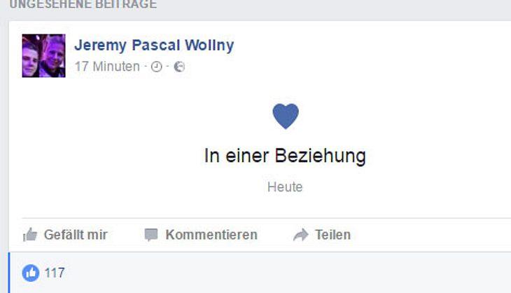 Jeremy Pascal Wollny ist wieder verliebt