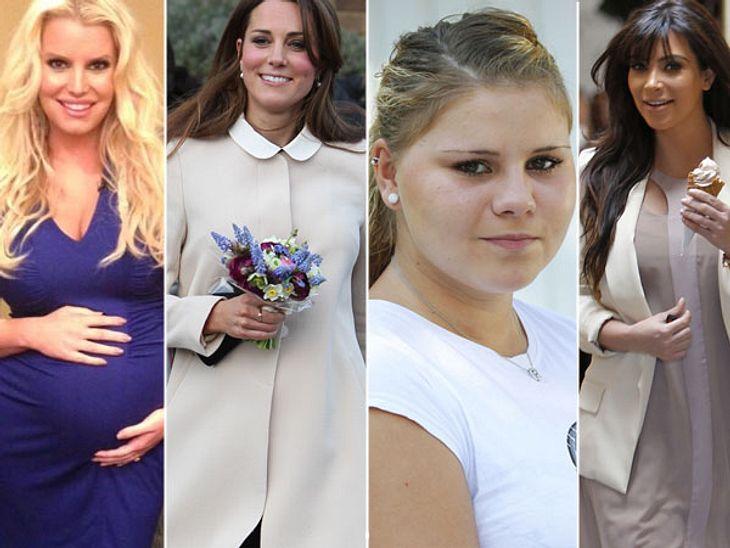 Jessica, Kim & Co. werden im Juli Mutter