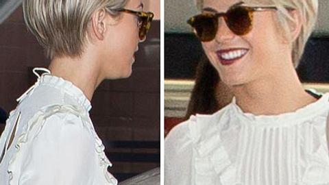 Julianne Hough hat sich von ihrer Wallemähne getrennt und trägt jetzt einen schicken Kurzhaarschnitt.  - Foto: Getty Images
