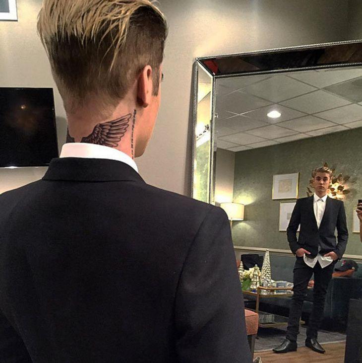 Justin Bieber präsentiert sein neues Tattoo