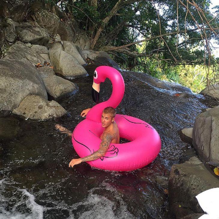 Justin Bieber genießt seinen Urlaub