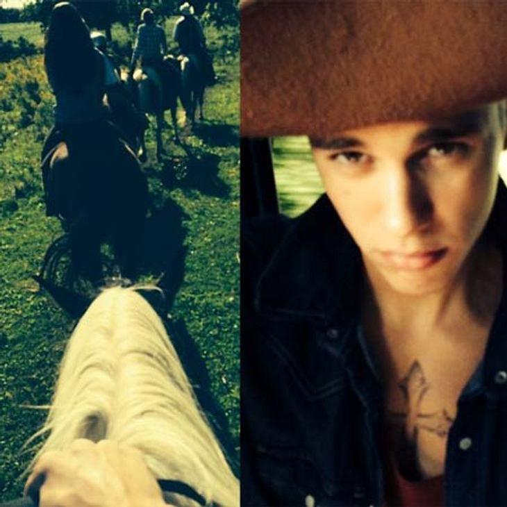 Justin Bieber auf Cowboy