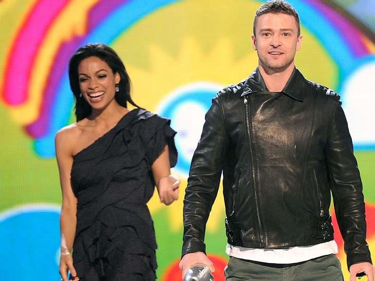 Kids Choice AwardsNeu-Single  Justin Timberlake kam zusammen mit Rosario Dawson auf die Bühne.
