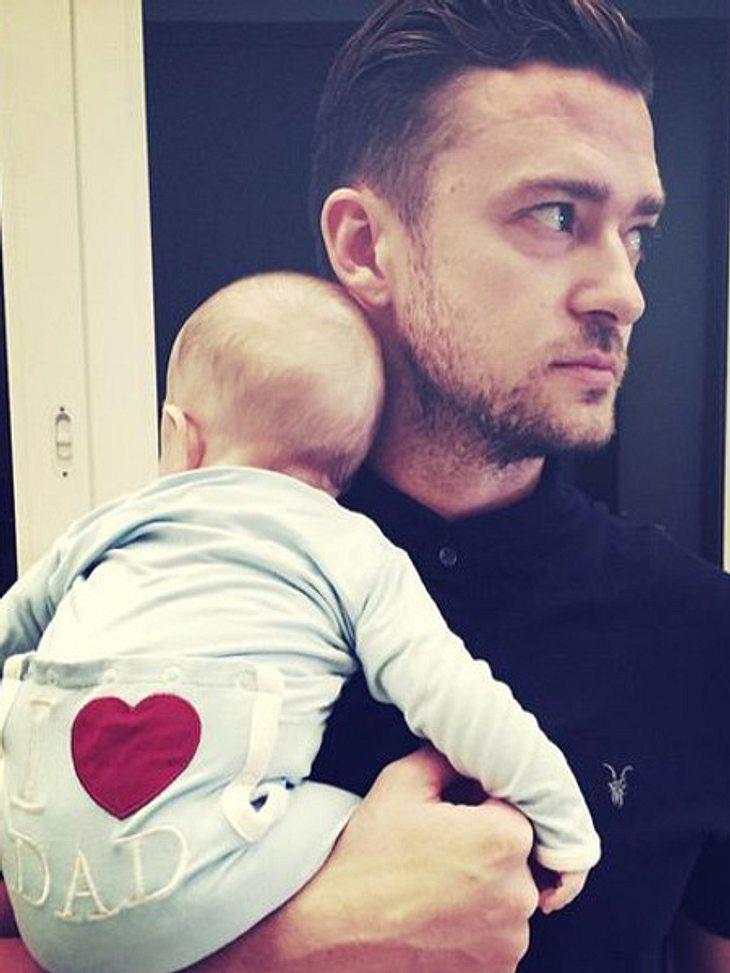 Justin Timberlake mit Baby Silas.