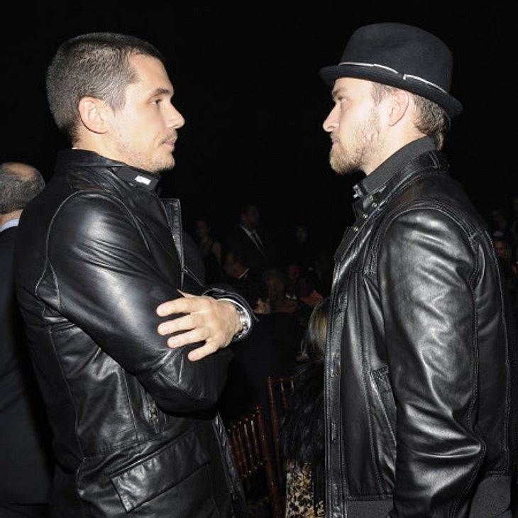 """Die Läster-Attacken der StarsJa, auch unter Männern kann es Zicken-Zoff geben. Justin Timberlake (31) lästerte über seinen Sänger-Kollegen John Mayer (34): """"Der klingt wie ein Kind von Macy Gray und Smokey, dem Bären! John verdreht sei"""