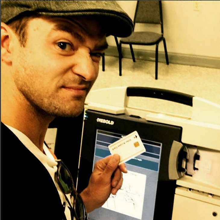 Justin Timberlake Wahl Selfie Gefängnis