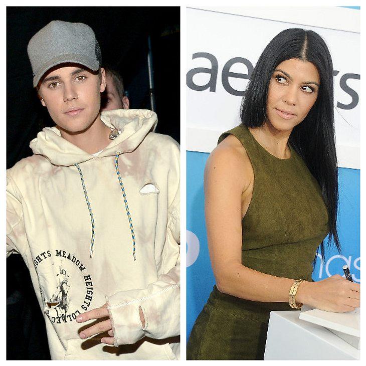 Justin Bieber und Kourtney Kardashian finden sich sehr anziehend