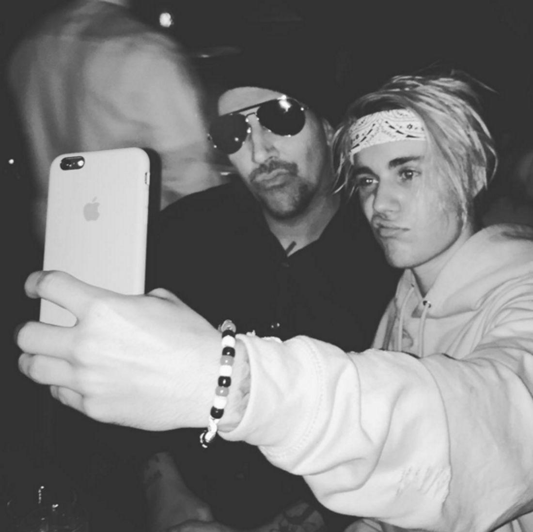 Justin Bieber und Marylin Manson