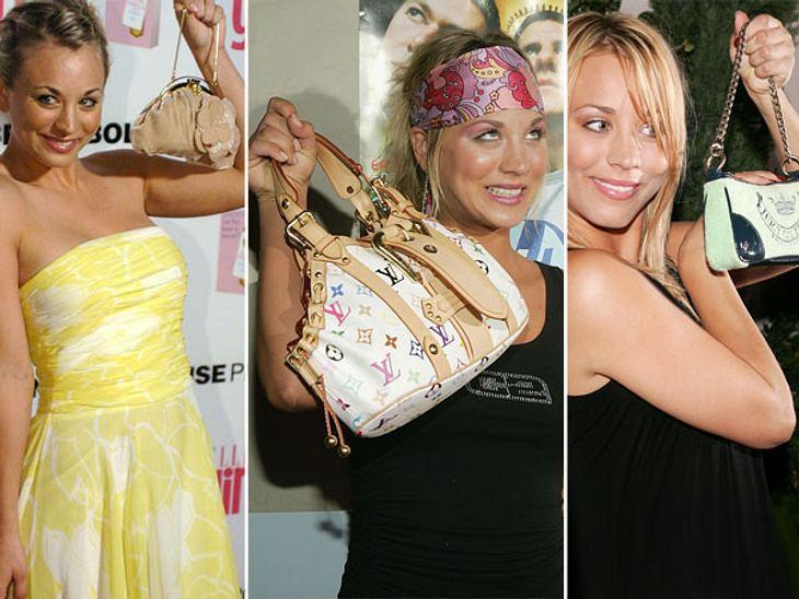 """Kaley Cuoco - Die Taschen-FetischistinSchon als Teenager war  """"Big Bang Theory""""-Star Kaley Cuoco scharf auf teure Taschen. Bereits 2005 zeigte sie den Fotografen immer ganz genau ihr neues Exemplar in die Kamera. Heute hat sie ein"""