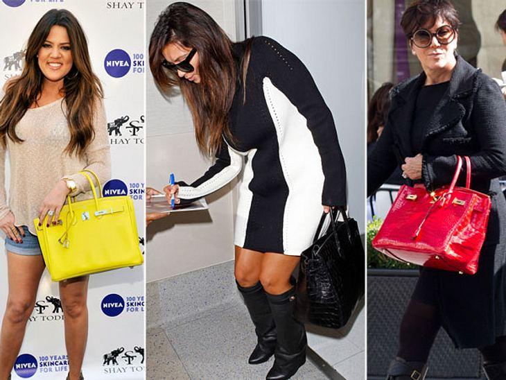 Stars lieben Luxus: Luxus-TaschenFamilie Kardashian liebt Luxus-Taschen vor allem die Birkin Bags von Hermès hat es den Ladys angetan. Die Kroko-Variante von Kim und Kris Jenner kostet jeweils stolze 100.000 Euro.