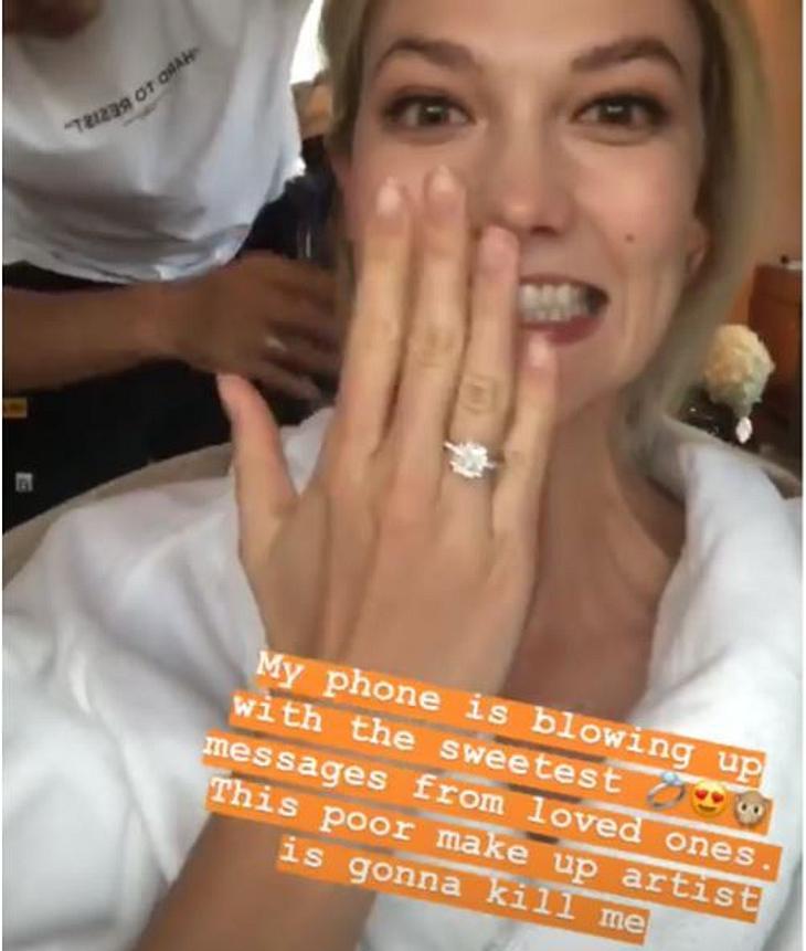 So schön ist der Verlobungsring von Karlie Kloss