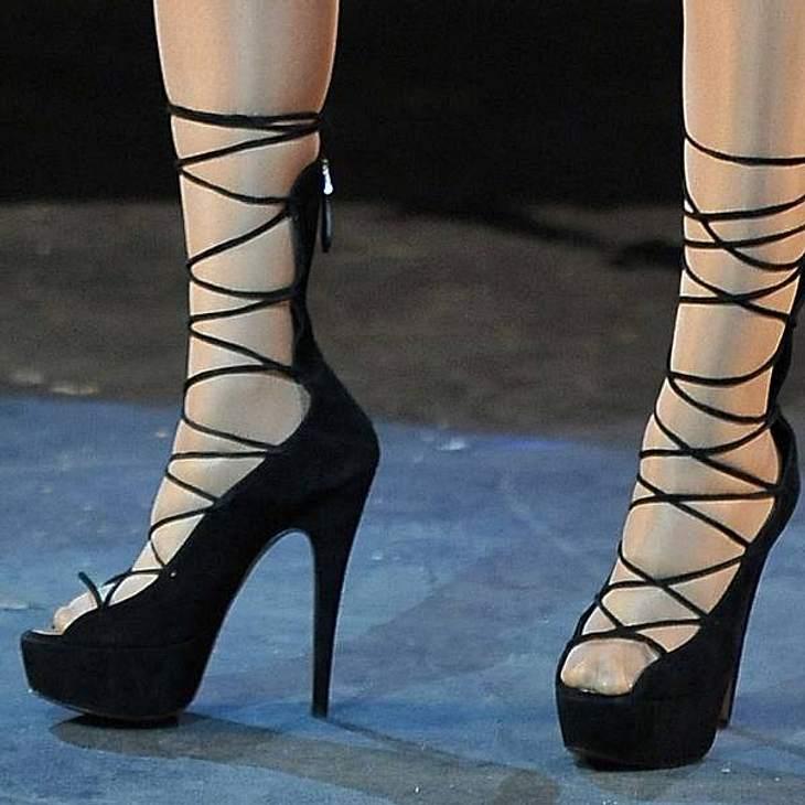 Diese ausgefallenen High Heels sind nicht jedermanns Geschmack.
