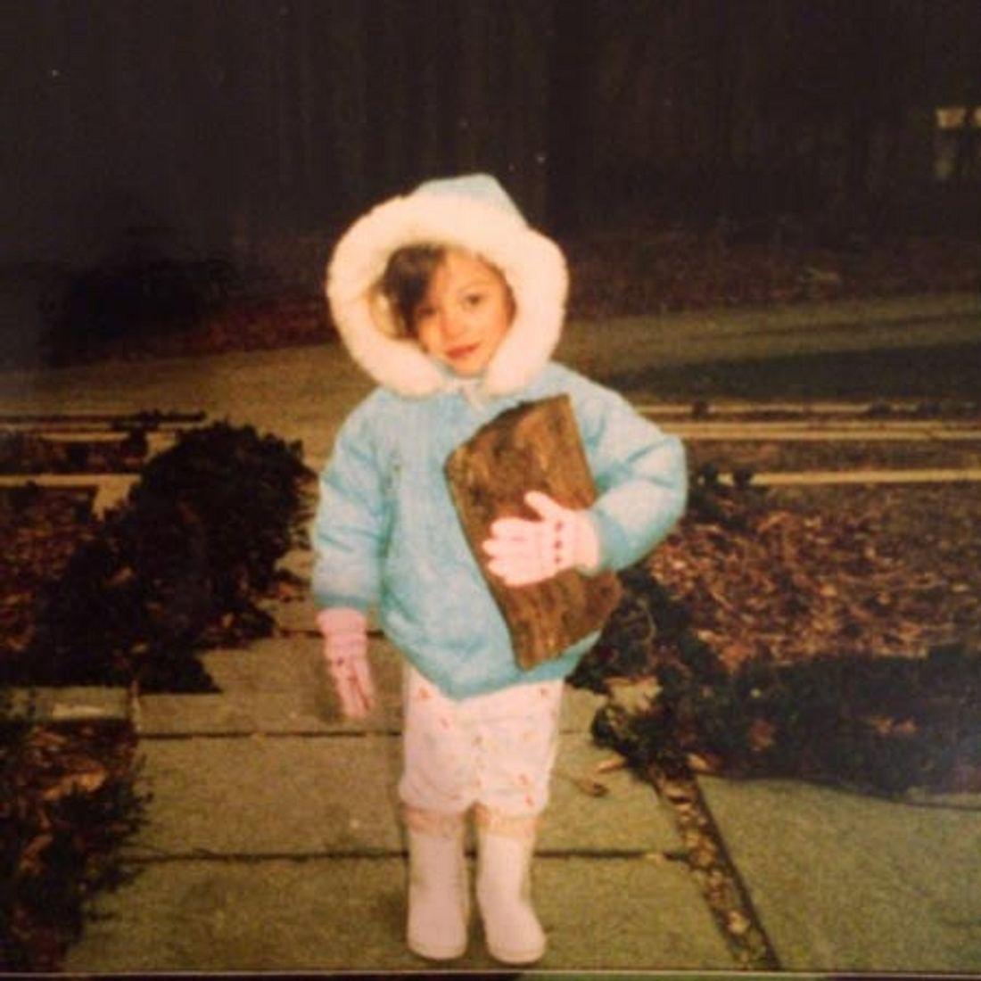 """""""Two Broke Girls""""-Star Kat Dennings als Kind."""