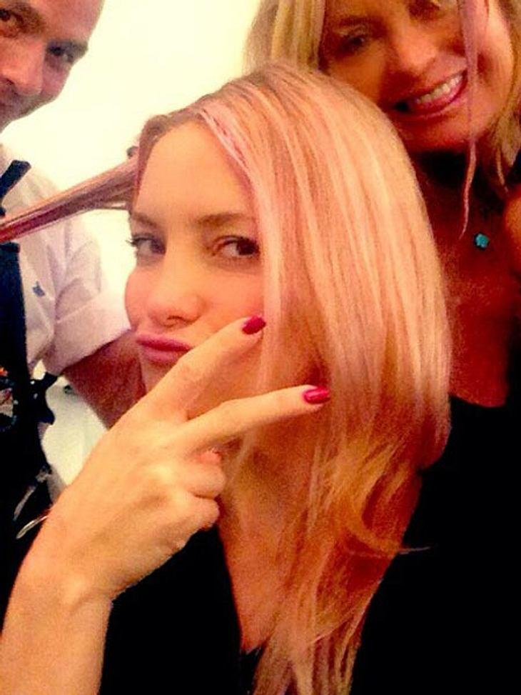 Kate Hudson trägt ihre Haare jetzt pink