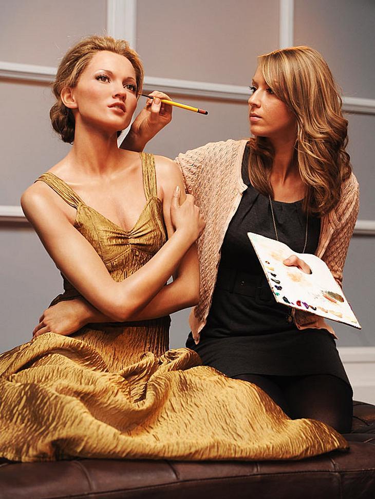 """Stars bei Madame Tussauds: Anlässlich der New Yorker """"Fashion Week"""" wurde die Wachspuppe von Kate Moss in London einer Generalüberholung unterzogen. Auf Ähnlichkeit mit dem britischen Topmodel wurde dabei offenbar nur noch bedingt"""