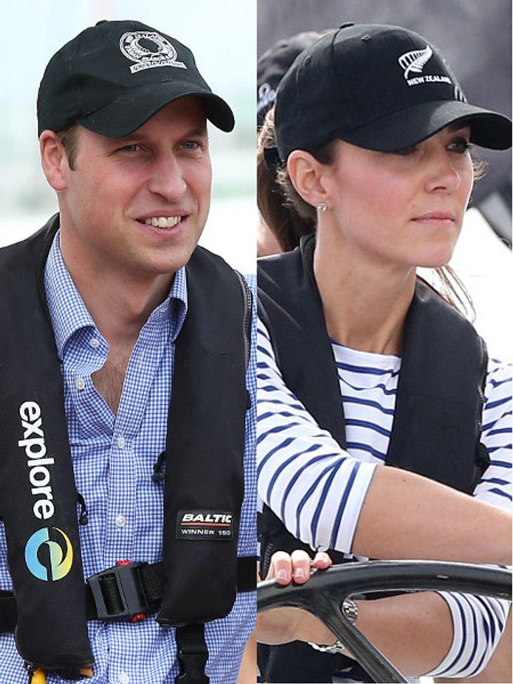 Prinz William und Herzogin Kate segelten um die Wette.