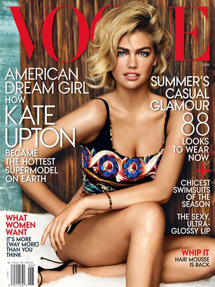 "Kate Upton auf dem ""Vogue""-Cover."
