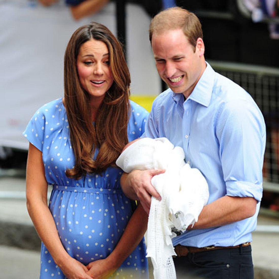 Kate und William einen Tag nach der Entbindung