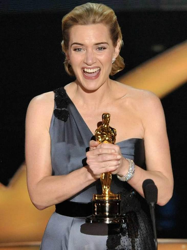 """Oscar-Mythen  Kate Winslet passiert sowas nicht, dachte man sich! Ihre Bilderbuch-Ehe mit Sam Mendes kann ein Oscar-Gewinn (""""Der Vorleser"""", 2009) nicht erschüttern. Fast ein Jahr war das auch der Fall, dann kam raus, das Sam nicht"""