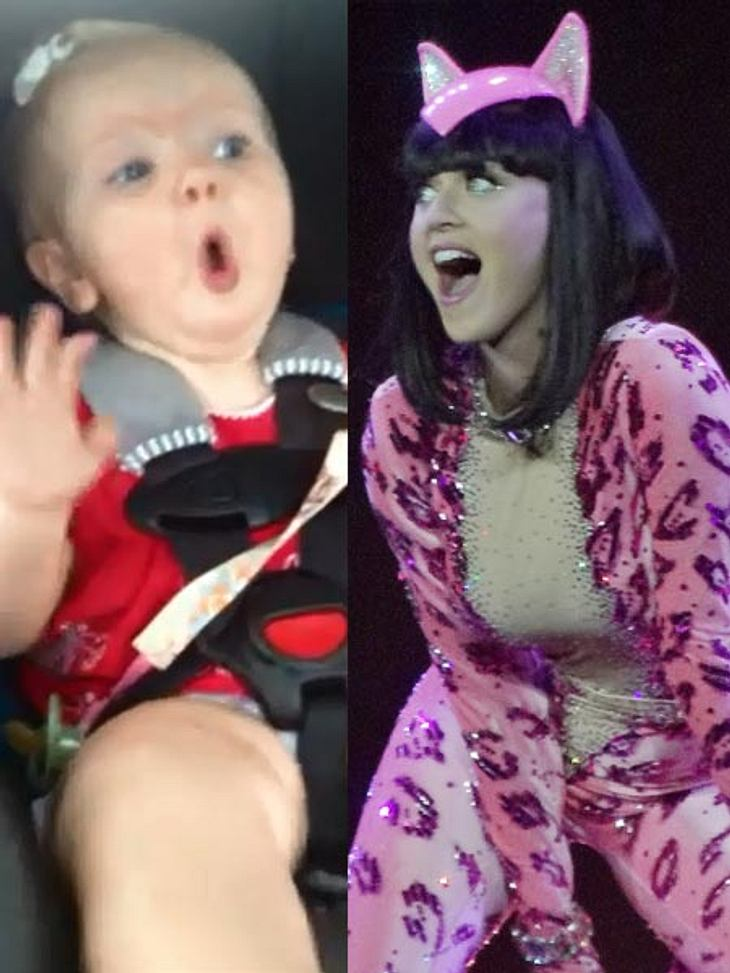 So bringt Katy Perry ein Baby zum Lachen!
