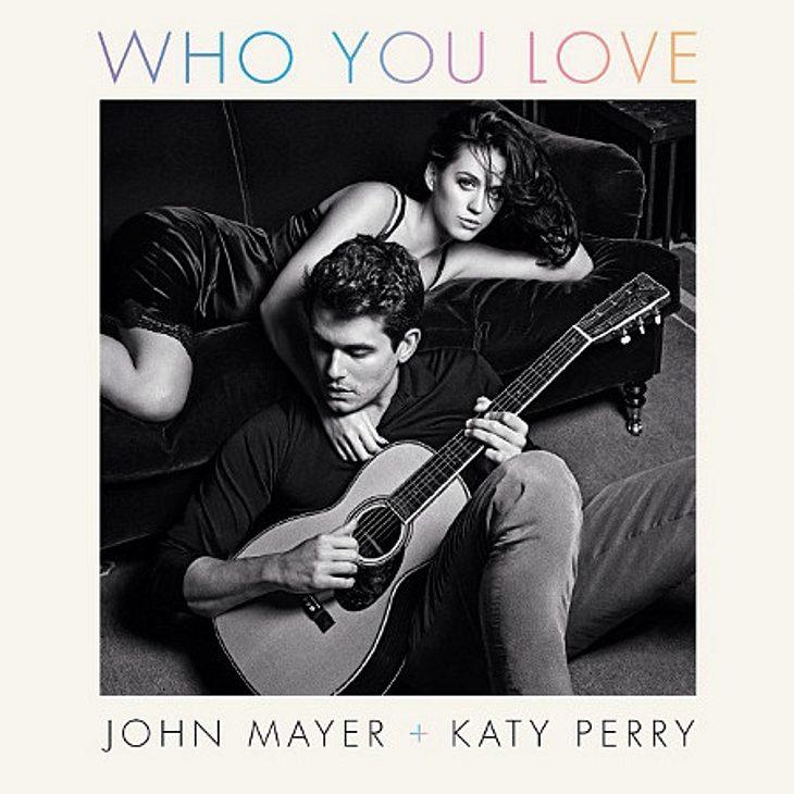 Katy Perry und John Mayer ganz verliebt auf dem Cover ihrer Single.