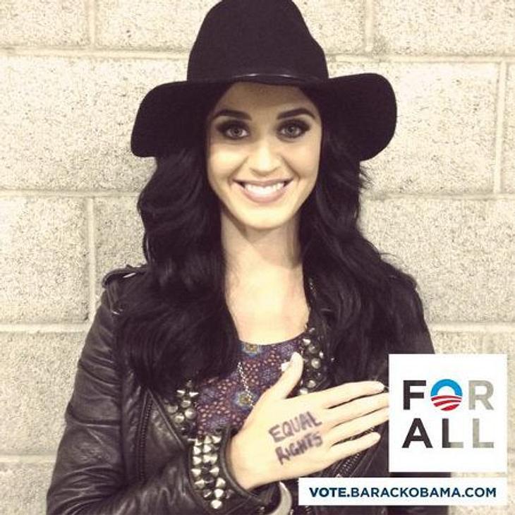 Obama vs. Romney: Welchen Präsidenten wählen die Stars?Neben Eva Longoria legt sich auch Katy Perry mächtig ins Zeug für Barack Obama.