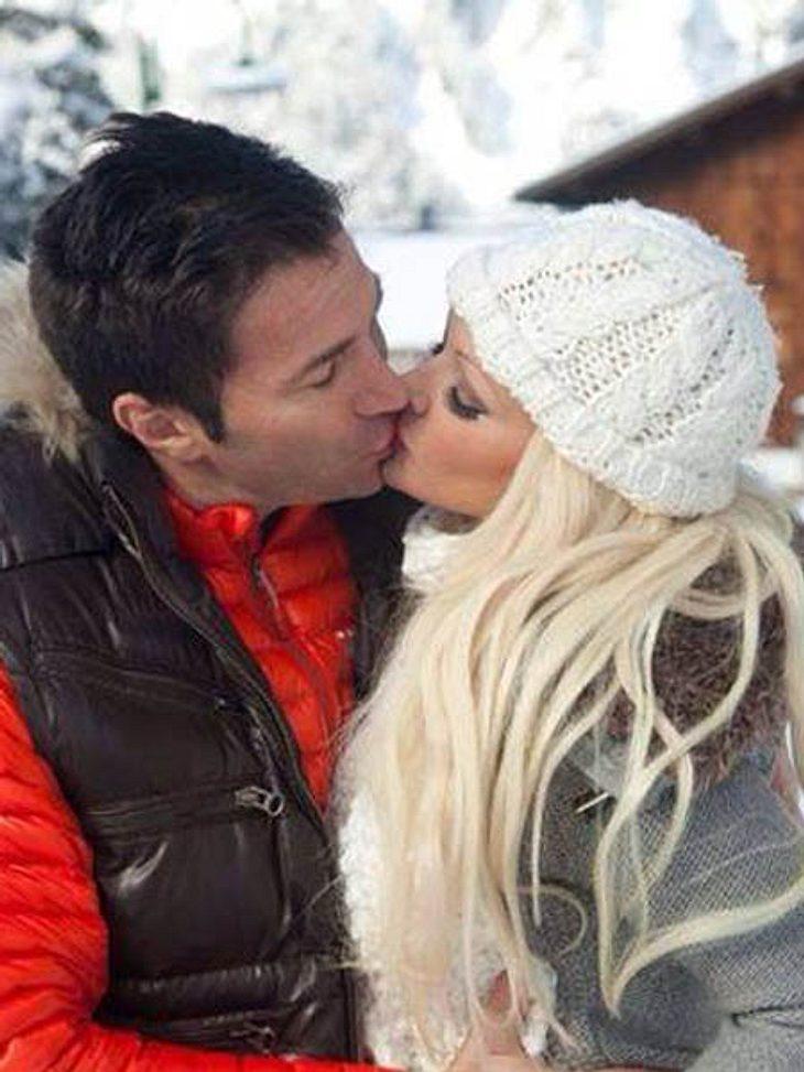 Daniela Katzenberger küsst Lucas Cordalis