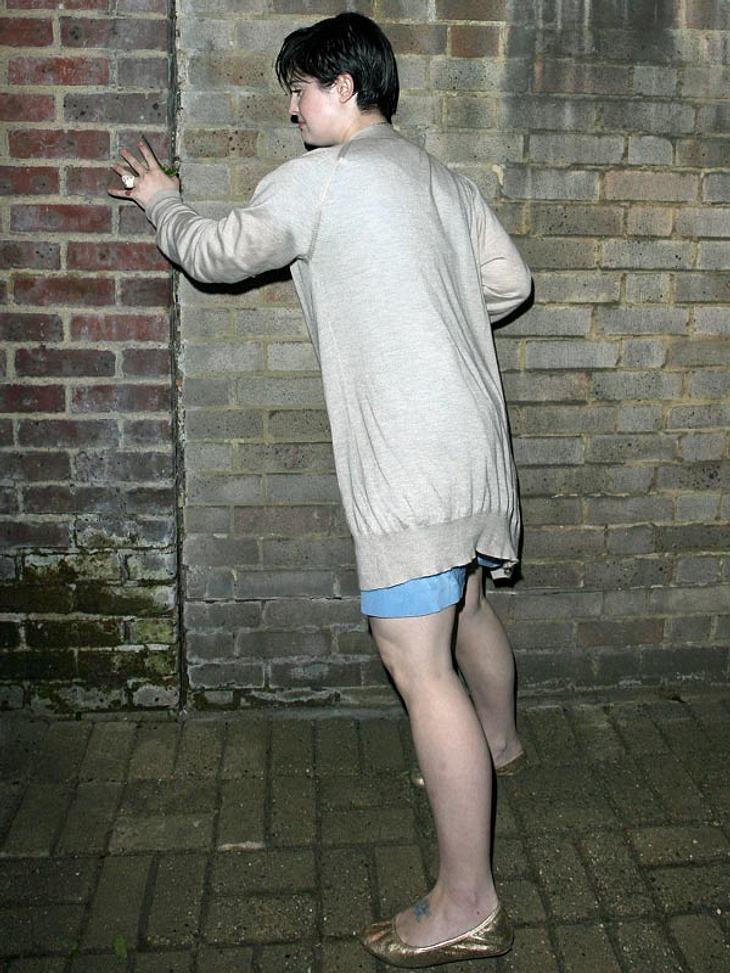 Meine beste Freundin, die Wand! Ohne die wäre Kelly Osbourne manchmal nämlich ganz schön aufgeschmissen...
