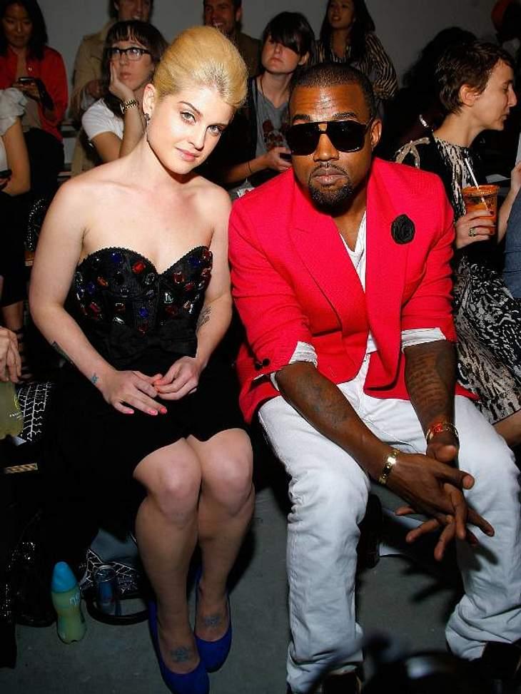 Zwei Modebegeisterte unter sich: Kelly Osbourne und Kanye West bei der Show von Jeremy Scott.
