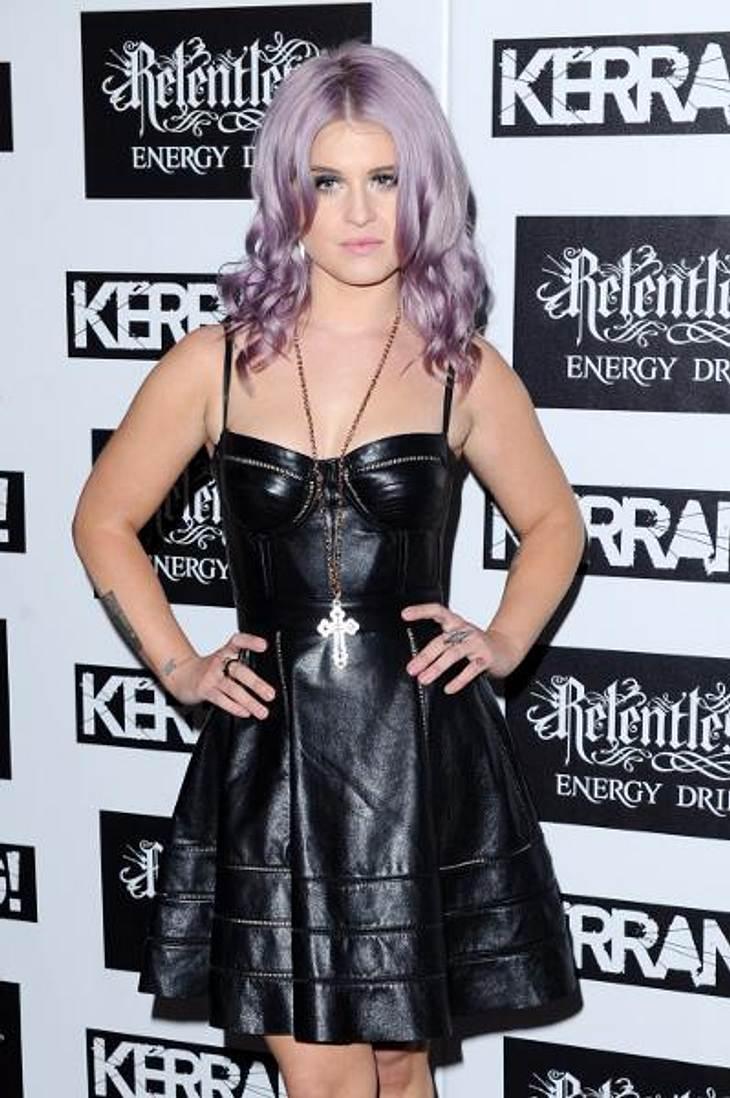 Die Stars lieben LederNur für Mutige: Mit diesem Leder-Bustierkeid beweist Kelly Osbourne (27) modische Experimentierfreude.