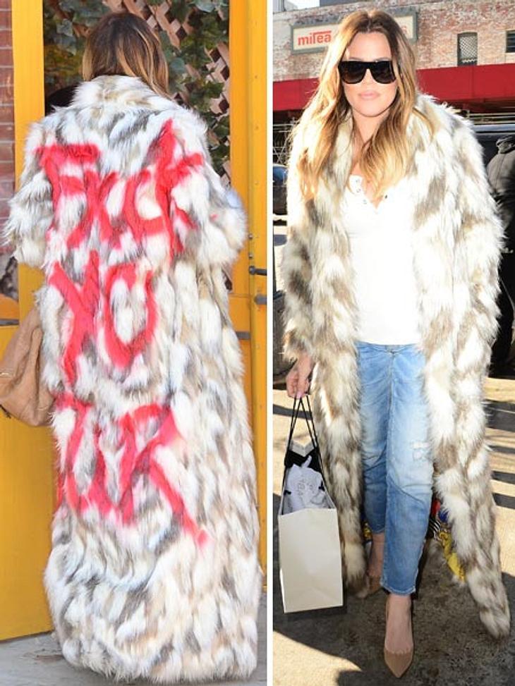 Khloe Kardashian ist kein Freund von Echt-Pelz und zeigt es auch.