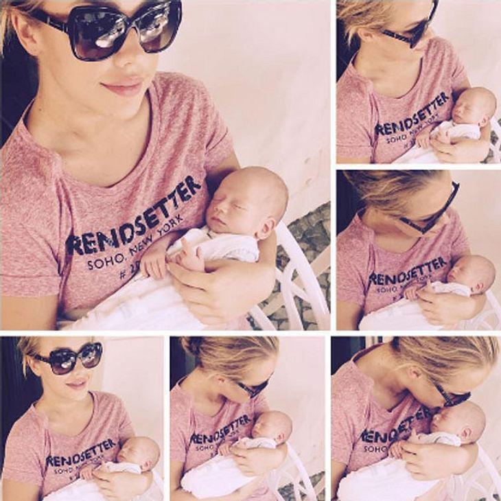 Kim Gloss mit Baby