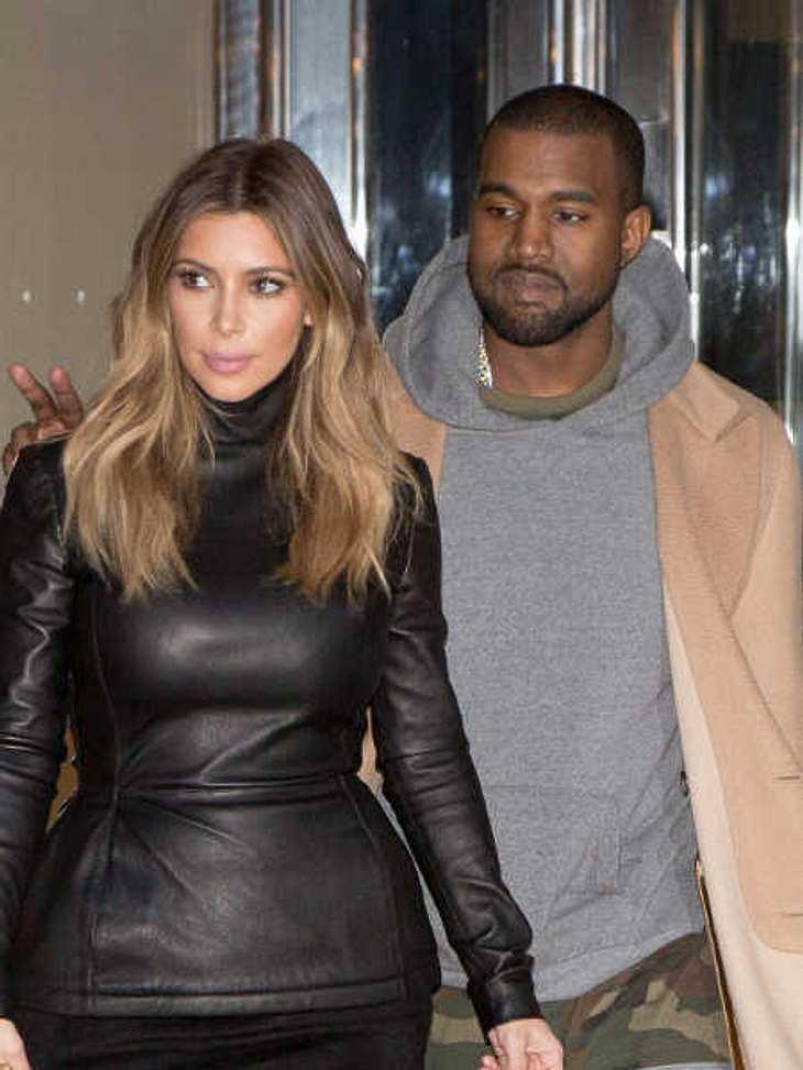 Kim Kardashian und Kanye West wollen in den Flitterwochen ihre Ruhe haben.