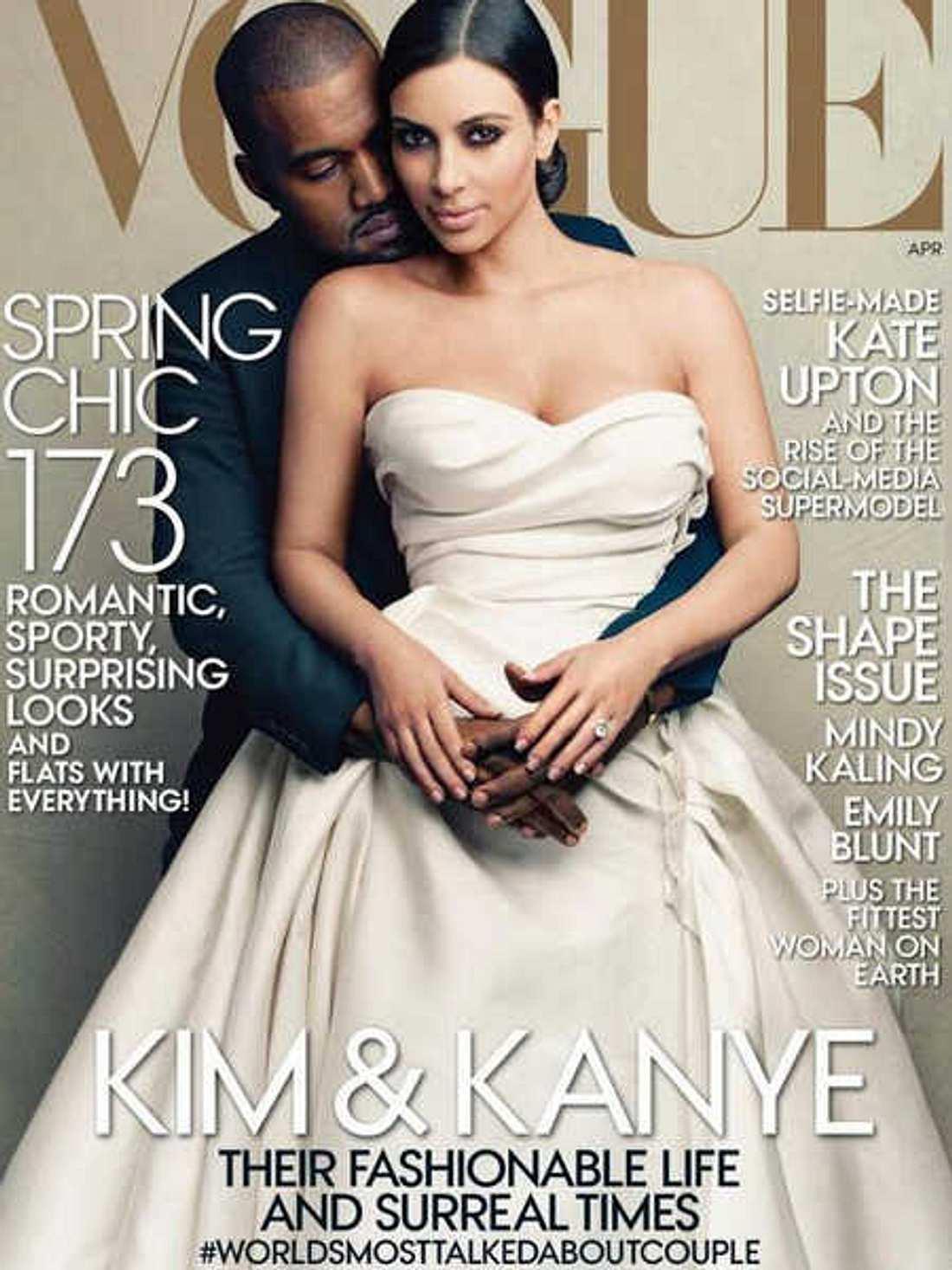Kim Kardashian und Kanye West auf dem Cover der Vogue
