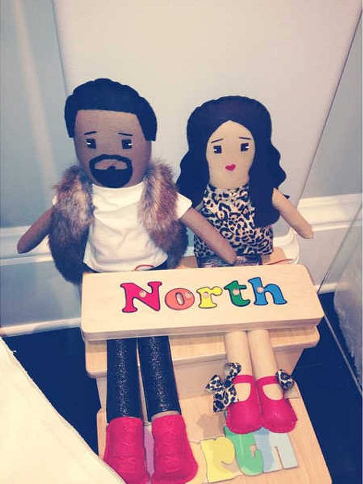 North hat Puppen von Kim Kardashian und Kanye West.