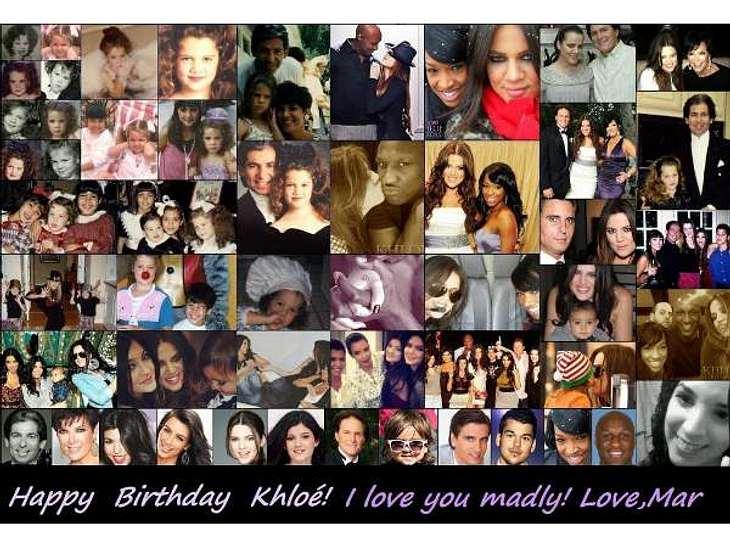 Die verrücktesten Twitter-Bilder der StarsWas für ein nettes Geburtstagsgeschenk! Kim Kardashian (31) twittete diese Foto-Kollage, die sie ihrer Schwester Khloé zum 28. Geburtstag schenkte.