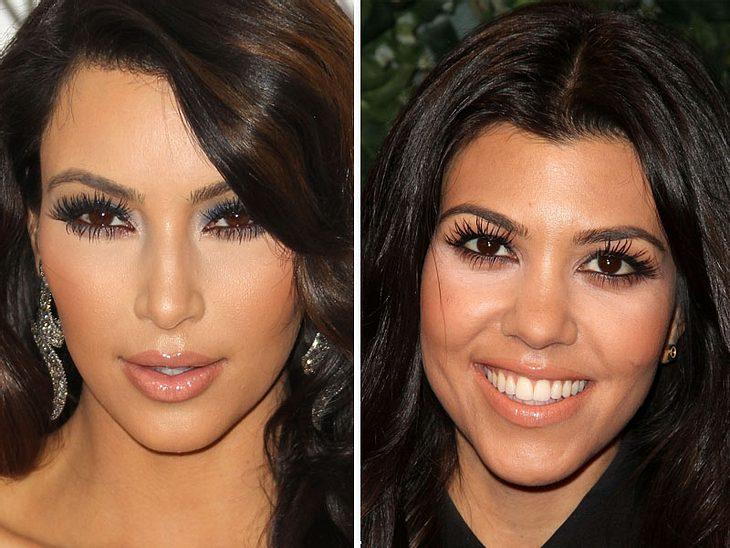 ,Jetzt knallt's! Die Beauty-Trends der StarsKnallen muss es nicht nur farblich, auch Super-Fake-Lashes hauen uns um.  Kim und  Kourtney Kardashian machen's vor.