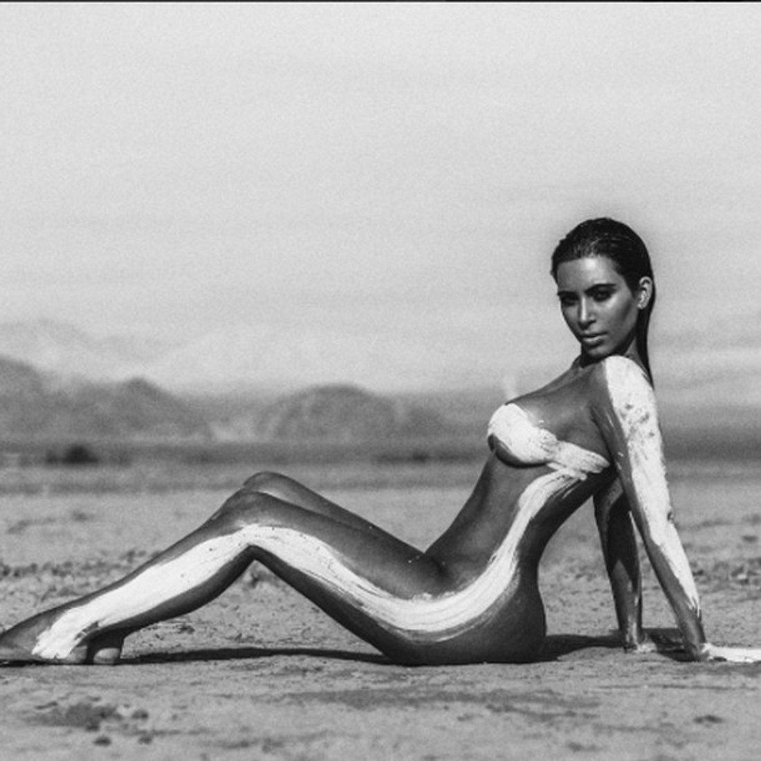 Kim Kardashian gibt sich freizügig