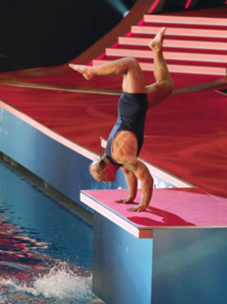 Konny Reimann zeigt seine Fähigkeiten als Ballerina!
