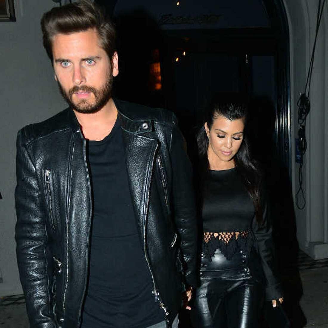 Kourtney Kardashian mit Scott Disick