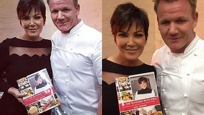 Es wäre gar nicht weiter aufgefallen, hätte Kris nicht das peinlich überarbeitete Foto nachgeschoben - Foto: Instagram / Kris Jenner / Gordon Ramsay