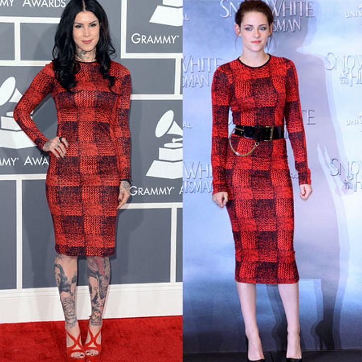 Zwei Stars, ein Kleid: Kat von D vs. Kristen Stewart