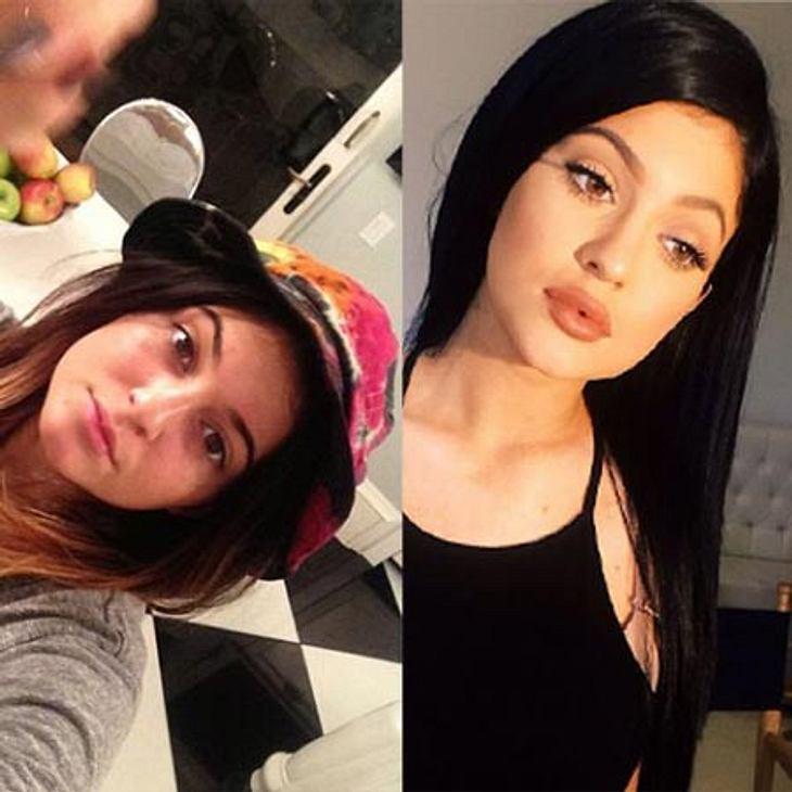 Kylie Jenner im Vergleich Früher und Heute