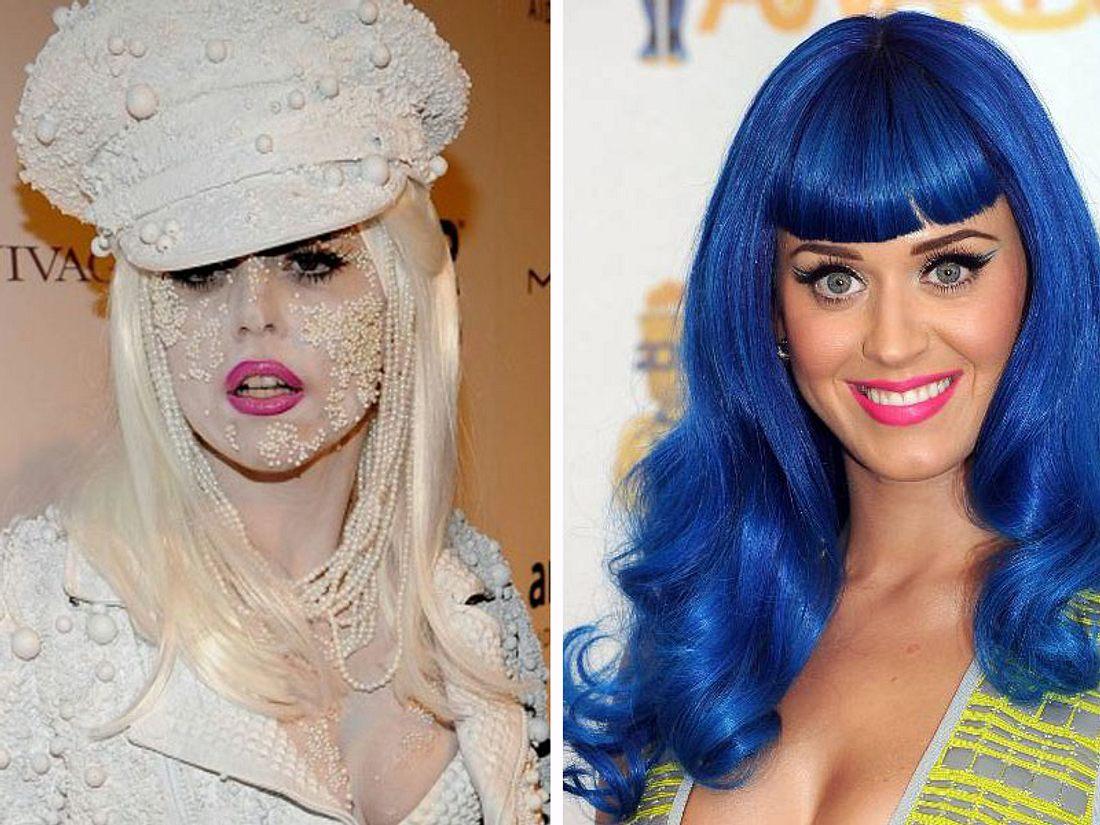Popdiven: Die verrücktesten Outfits von Katy Perry und Lady Gaga - Bild 1