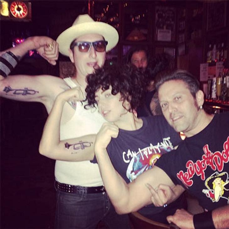 Geteilte Leidenschaft! Auch Gaga hat jetzt ein Fan-Tattoo