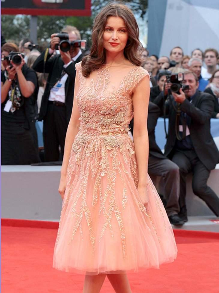Die 69. Internationalen Filmfestspiele von VenedigWunderschön im zartrosafarbenen Glitzerkleid: Laetitia Casta (34) sitzt in der Jury der 69. Filmfestspiele.