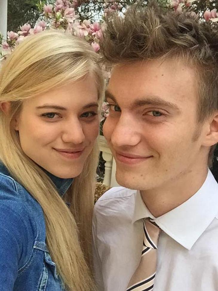 Larissa Marolt und ihr Bruder Maxi