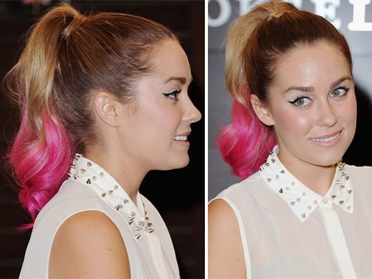 """Buntlöckchen - Die Stars setzen auf bunte HaareDass bunte Haare nicht unbedingt nur zu flippigen Outfits und einer extrovertierten Persönlichkeit passen, beweist Lauren Conrad (26). Die durch die US-Serie """"The Hills"""" berühmt gewor"""